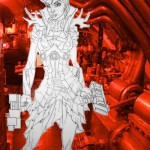 Lady Wikariin in the Engine Room sci-fi engine room science fiction TV movie