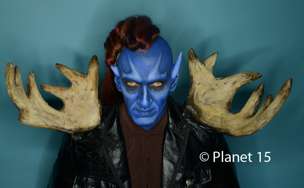 science fiction blue man sci-fi cool horns