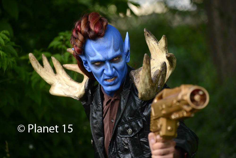 science fiction alien blue man sci-fi cool horns