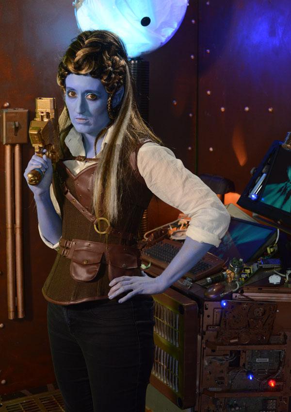 science fiction alien blue lady girl woman